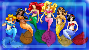 Disney Princesses :RECOLOURED: by Aelphia