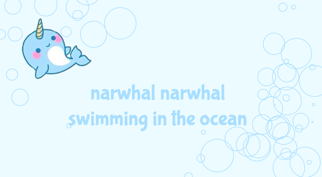 narwhal background by AmyFluffyPaws