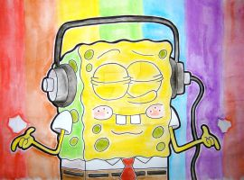 Spongebob Headphones by TheOceanOwl