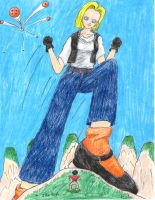 Android 18 gts wish by sketch-reload