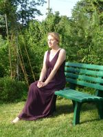 lady - garden bench 6 by indeed-stock