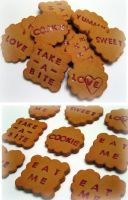 Jam Filled Word Cookies by strawberrywafers