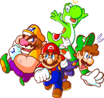 Super Mario x4 by JamesmanTheRegenold