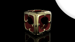 Simple Cube In Gold and Red by Tate27kh