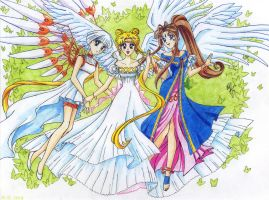 Three Angels by nephrite-butterfly