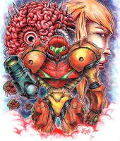 Supermetroid Samus by mayonnaiseandbread