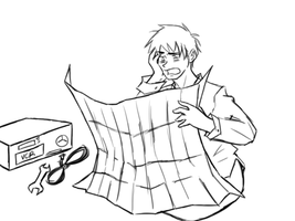 Dumb Prussia doodle thing by Azurellia