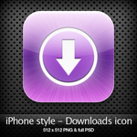 iPhone style - Downloads icon by YaroManzarek