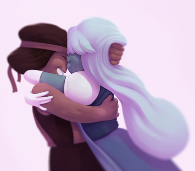Ruby and Sapphire by zaagn