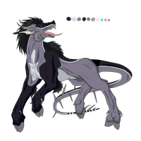 Male Cloven Hound Adoptable 2 - SOLD by ShadowInkAdopts