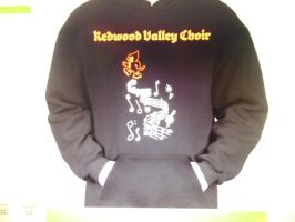 Choir Hoodie (front) by ArtsyLibrarian