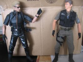 Resident Evil 1/6 scale figures Wesker vs. Chris by Demon-Lord-Cosplay