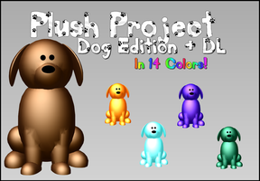 MMD - Plush Project - DOG + DL by RoseBeri