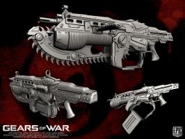Gears of War COG Lancer by YemYam