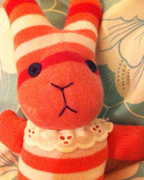 Bunny Rabbit made from a sock by assasinated