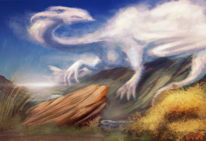 Cloud Dragon by BlindCoyote