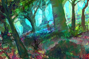 Abstract forest by connvince
