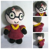Harry Potter Chibi Amigurumi Plush by gardensofmay