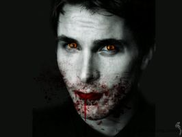 Vampire Christian Bale by SimplyDarkerthanDeaF