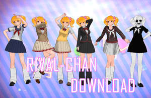 [MMD] TDA Rival-chan All uniforms [+DL] by BooMaker
