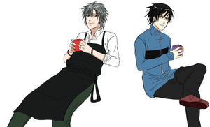 The bartender and the doctor by Aleude