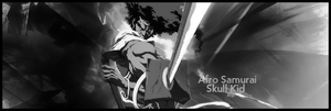 Afro Samurai bw by Skull--Kid