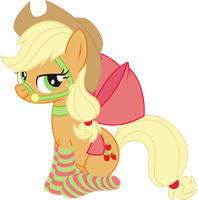 Applejack tamed... PNG by leopurofriki