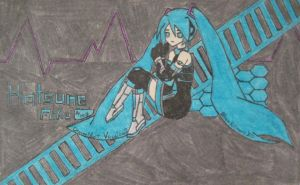 Hatsune Miku is also shy by BlueKitsuneX10