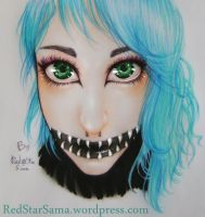 CookiesCorpse's Cheshire MakeUp by RedStar-Sama
