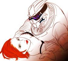 Garrus and shepard by zzingne