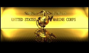 USMC Desktop Gold Themed by blameworthytragedies
