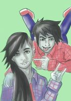 Marceline and Marshall Lee by this-side-of-average
