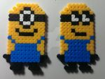 'Despicable me' minions from perler beads by elanor-V