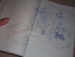 TARDIS journal-pages 5-6 by DragonsAndDreamscape