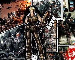 Gears of War - Anya Wallpaper by Candido1225