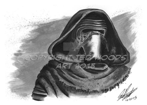 INKtober 2015 Day 20: Kylo Ren by tedwoodsart
