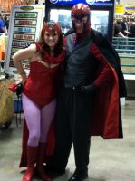Scarlet Witch and Magneto by jedigirl528