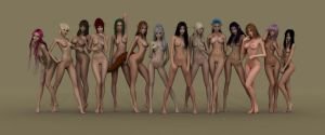 Elven Girls Everywhere!! by yulion-kaeri