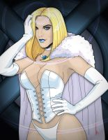 Willam as Emma Frost (the White Queen) by dezignjk