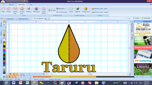 Taruru Embroidery Pattern for Patches by SolarGear079