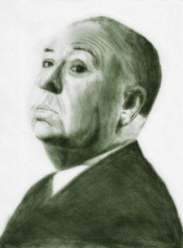 Alfred Hitchcock by oliveoel