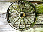 Old Wheel by Evee1