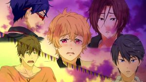 Free! Eternal Summer Ep05 - Best Expressions by Khurulli-x