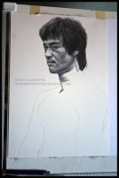 Bruce Lee In Progress by Angelstorm-82