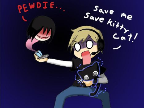 PewDiePie Calling- Save me Save Kitty Cat! by SilverSapphire495