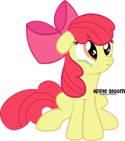 Apple Bloom crying by oOBrushstrokeOo