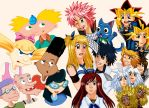 Hey Arnold, Fairy Tail and Yugioh by HikariYugiYamiAtemu