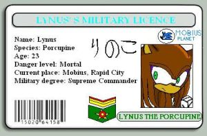 Lynus the Porcupine licence by Lynus-the-Porcupine