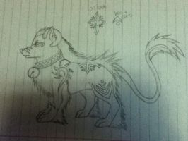 New wolf character by Shadowdannie