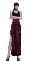Claire red dress, CV hair by UndeadMentor